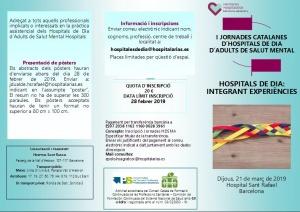I Jornades Catalanes d'Hospitals de Dia d'Adults de Salut Mental
