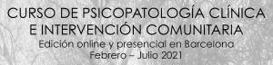 CURSO DE PSICOPATOLOGÍA CLÍNICA E INTERVENCIÓN COMUNITARIA